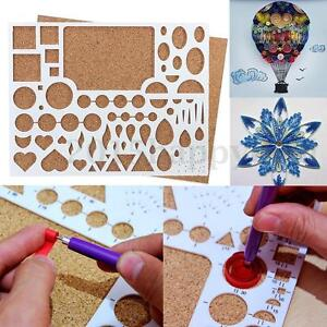 UK Paper Quilling Template Board Papercraft DIY Art Tool Scrapbooks 8.8x6.8