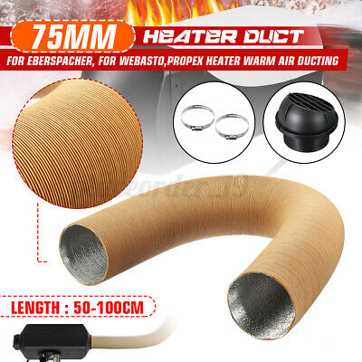 75mm Heater Pipe Duct Hose &Warm Air Vent Outlet For Webasto Eberspacher