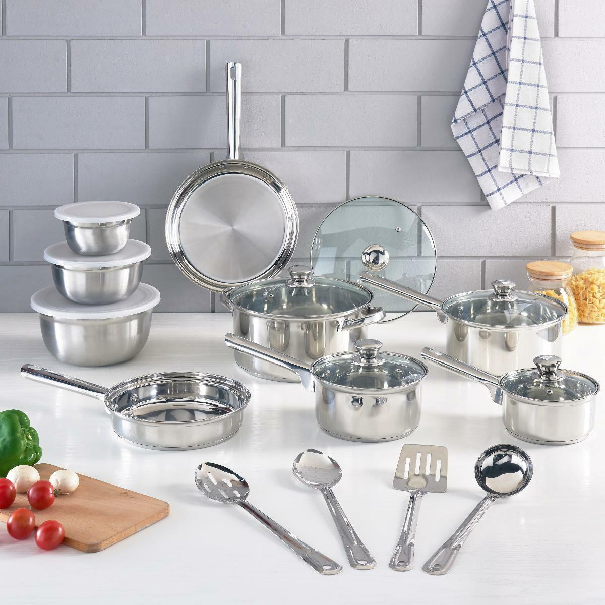 Cookware Set Stainless Steel Kitchen Tools Quality Pots Pans