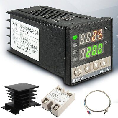 Ac 100-240v 999 Digital Pid Temperature Controller 40a Ssr K Thermocouple