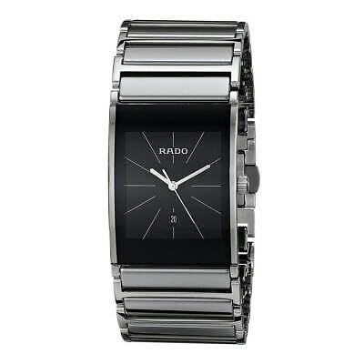 Rado Men's Watch Integral Quartz Black Dial Two Tone Bracelet R20784159