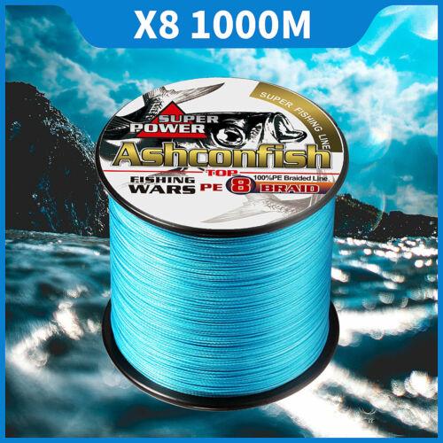 1000M Japanese Super Strong PE Braided Fishing Line Multifilament 6-100LB Braid