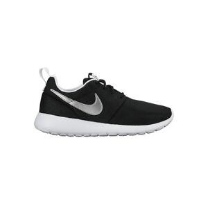 a37535edffec Nike Roshe One GS Kids Trainers Black Silver Shoes 6 UK - 39 EU