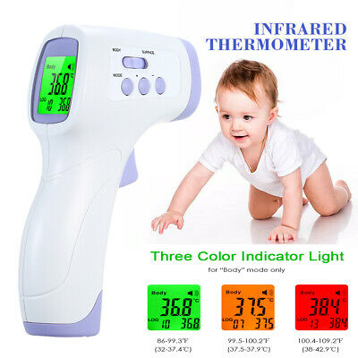 Digital Infrared Thermometer Non-contact IR Forehead Ear Body/Adults Thermometer