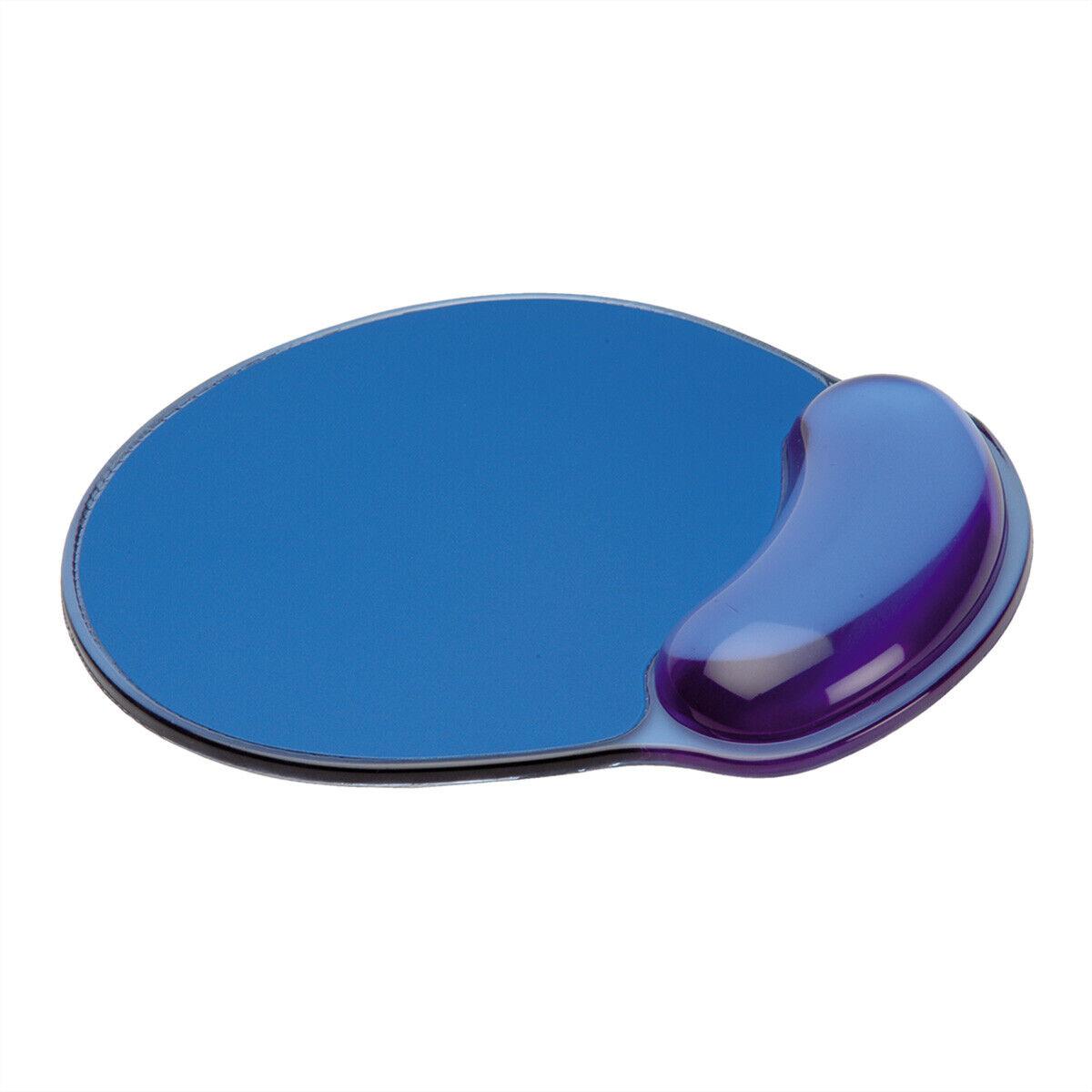 Mauspad mit Handgelenkauflage, blau, Silikon - Sehnenscheiden schonend