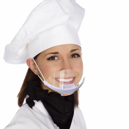 Transparent Mouth Shield Mask - 10 pc