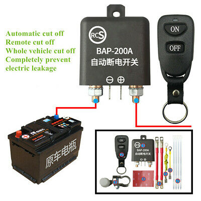 Automatic Wireless Remote Car Battery Disconnect Isolator Cut Off Kill Switch