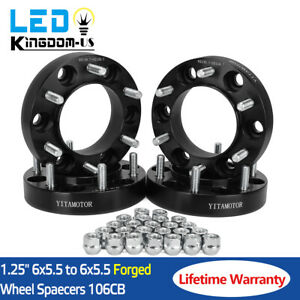 4 x1.25'' 6 Lug Black Hubcentric Wheel Spacers Adapters 6x5.5 for Toyota Tacoma