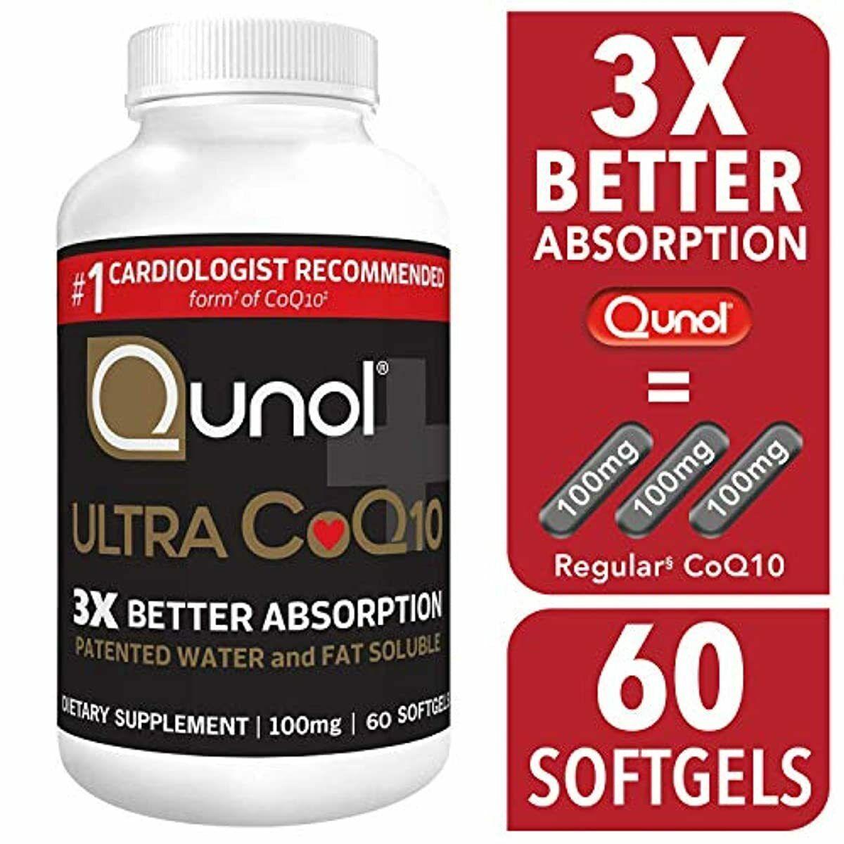 Qunol Ultra CoQ10 Dietary Supplement Softgels, 100mg, 60 cou