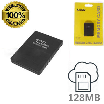 NEW 128MB Memory Card Data For Sony PlayStation 2 PS2 Slim Game Console