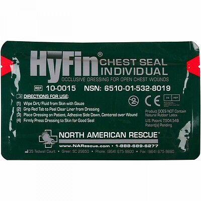 Hyfin Individual Chest Seal Dressing Open Chest Wounds treatment  injuries Gauze Open Wound Treatment
