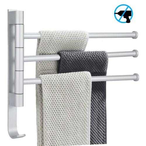 Handtuchständer 3-armig Edelstahl Drehbar Handtuchhalter Badezimmer Ohne Bohren