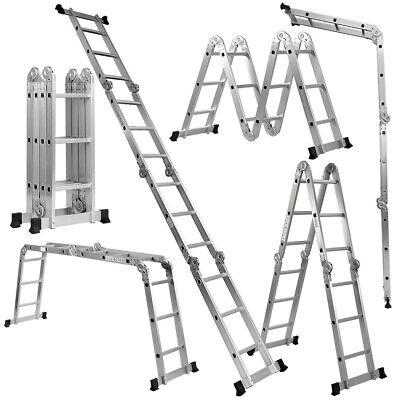 Cstway En131 330lb Multi Purpose Step Platform Aluminum Folding Scaffold Ladder