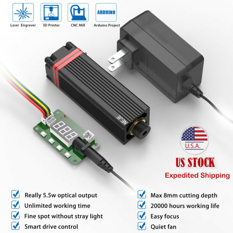 20W 450nm laser module head kit fit CNC laser engraving cutting carving machine