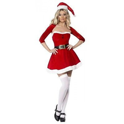 Sexy Santa Costume Adult Mrs Claus Outfit Christmas Fancy Dress