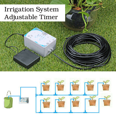 Automatic Drip Irrigation System Kit Watering Timer Controller 10m Tube USB  ()