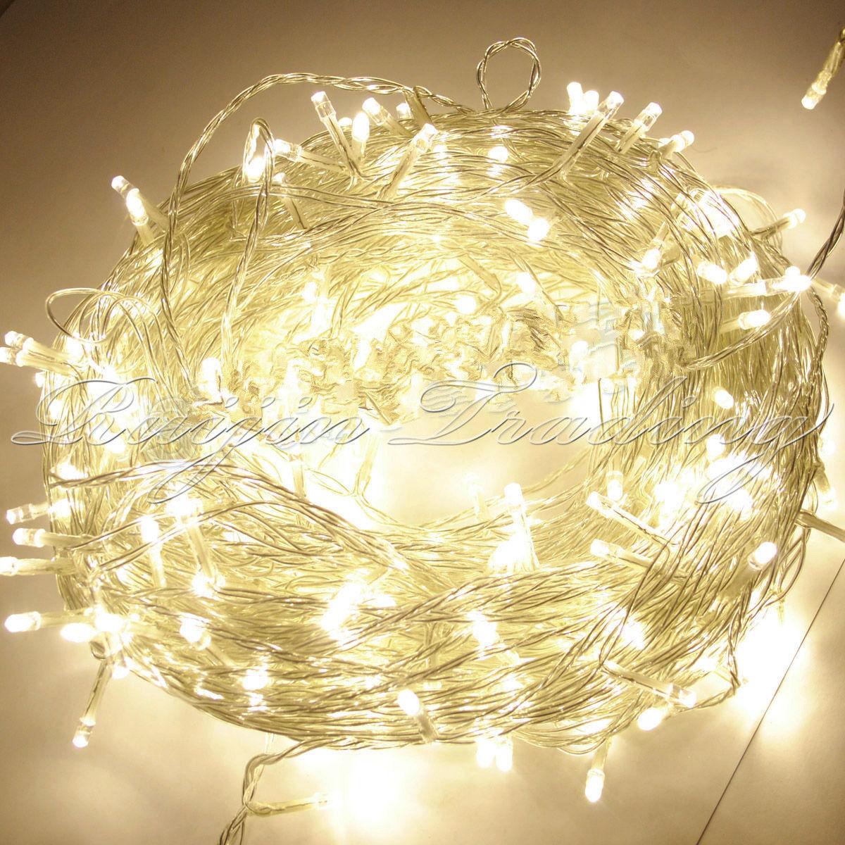 10m 20m 30m LED Lichterkette Weihnachtsbaum Weihnachten Warmweiß Beleuchtung