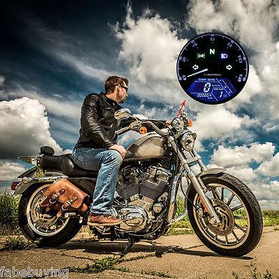 12000RPM Digital Tachometer LCD Odometer Speedometer for Motorcycle Motorbike US