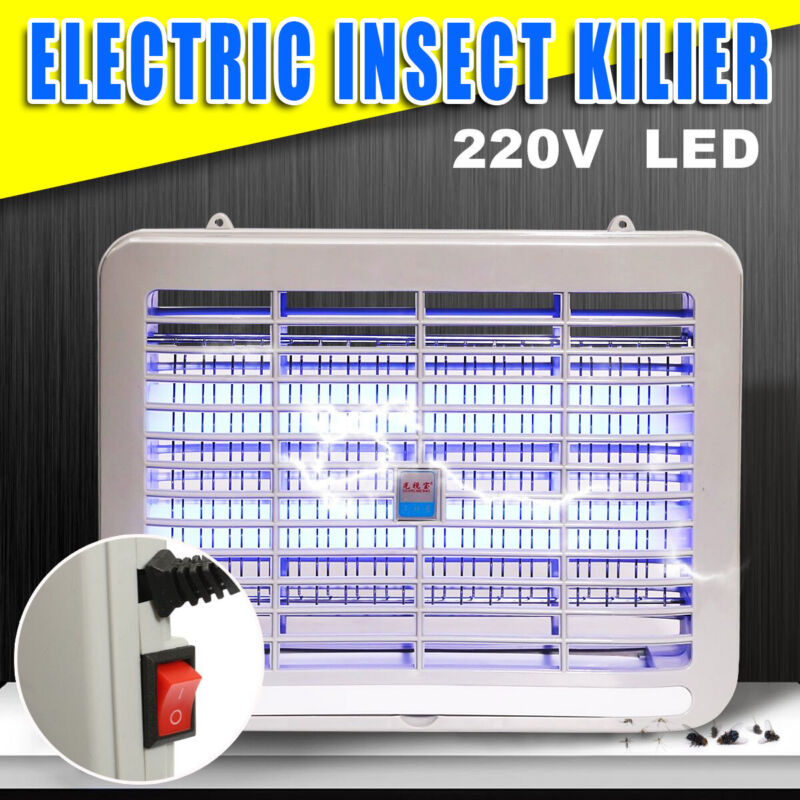 220V 2W Electronic LED UV Lamp Flying Mosquito Fly Insect Zapper Killer  c