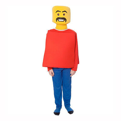 Morphsuits Kids Mr. Blockhead Child Costume with 3 Face Stickers MCCKOBLOK - Kids Morphsuits