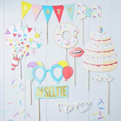 Photo Booth Photobooth Requisiten 10 tlg. Konfetti Party' Hochzeit Geburtstag ()