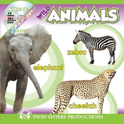 NEW Sing, Play, Learn! Wild Animals Padded Board Book & CD - Preschool Zoo Fun
