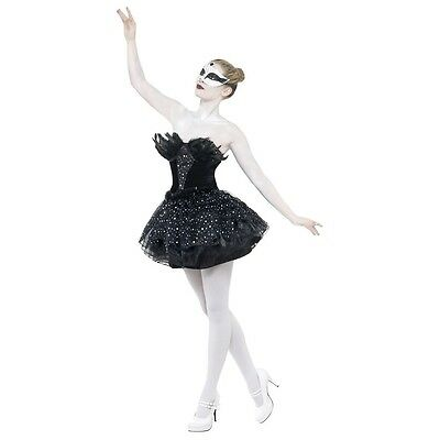 Black Swan Costume Adult Ballerina Halloween Fancy Dress - Black Swan Costumes