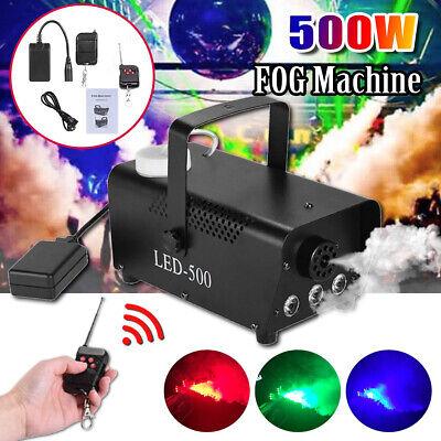 500W Nebelmaschine RGB LED DJ Party Fog Smoke - Halloween Nebel