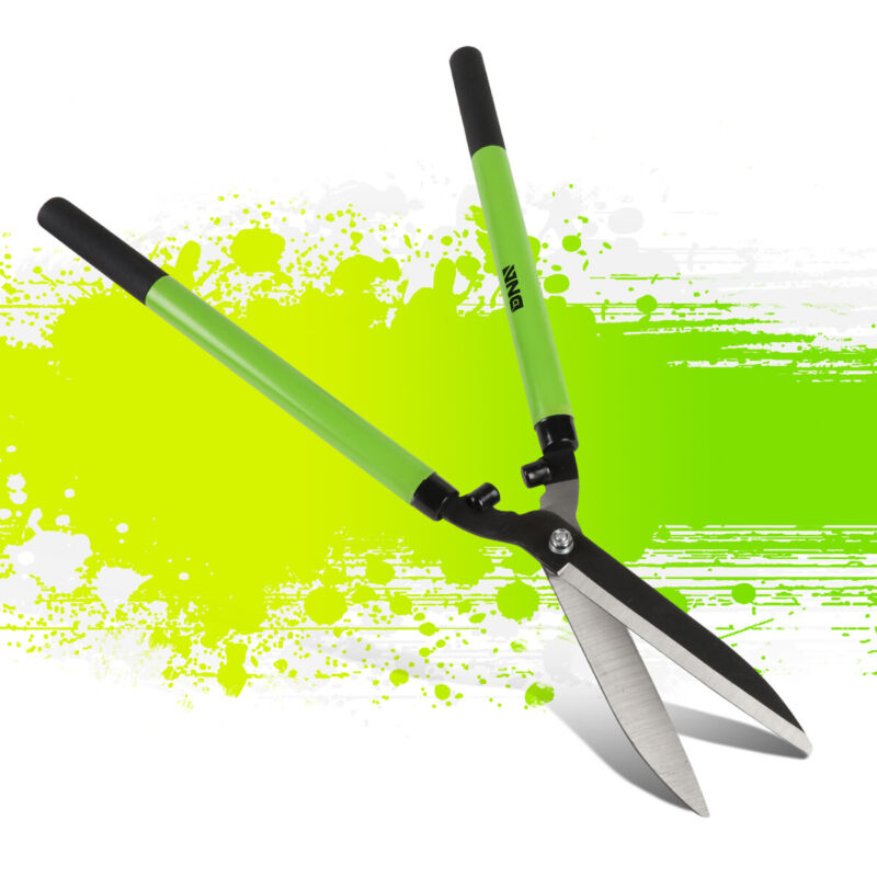 """Rubber Coat Grip 7"""" Heat-Treated Blade 22"""" Hedge Shear Home Garden Trimming Tool"""