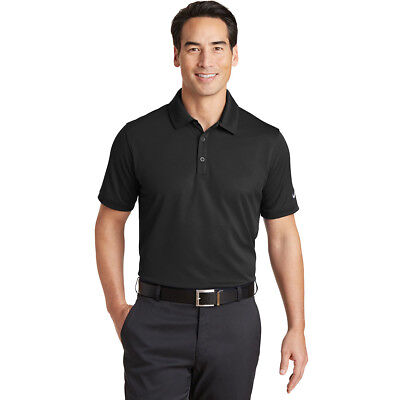 Nike Dri-Fit Solid Icon Pique Polo Mens Golf Shirt Size XL Black