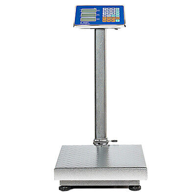 660lbs Weight Platform Computing Digital Floor Scale For Weighing Luggage Silver