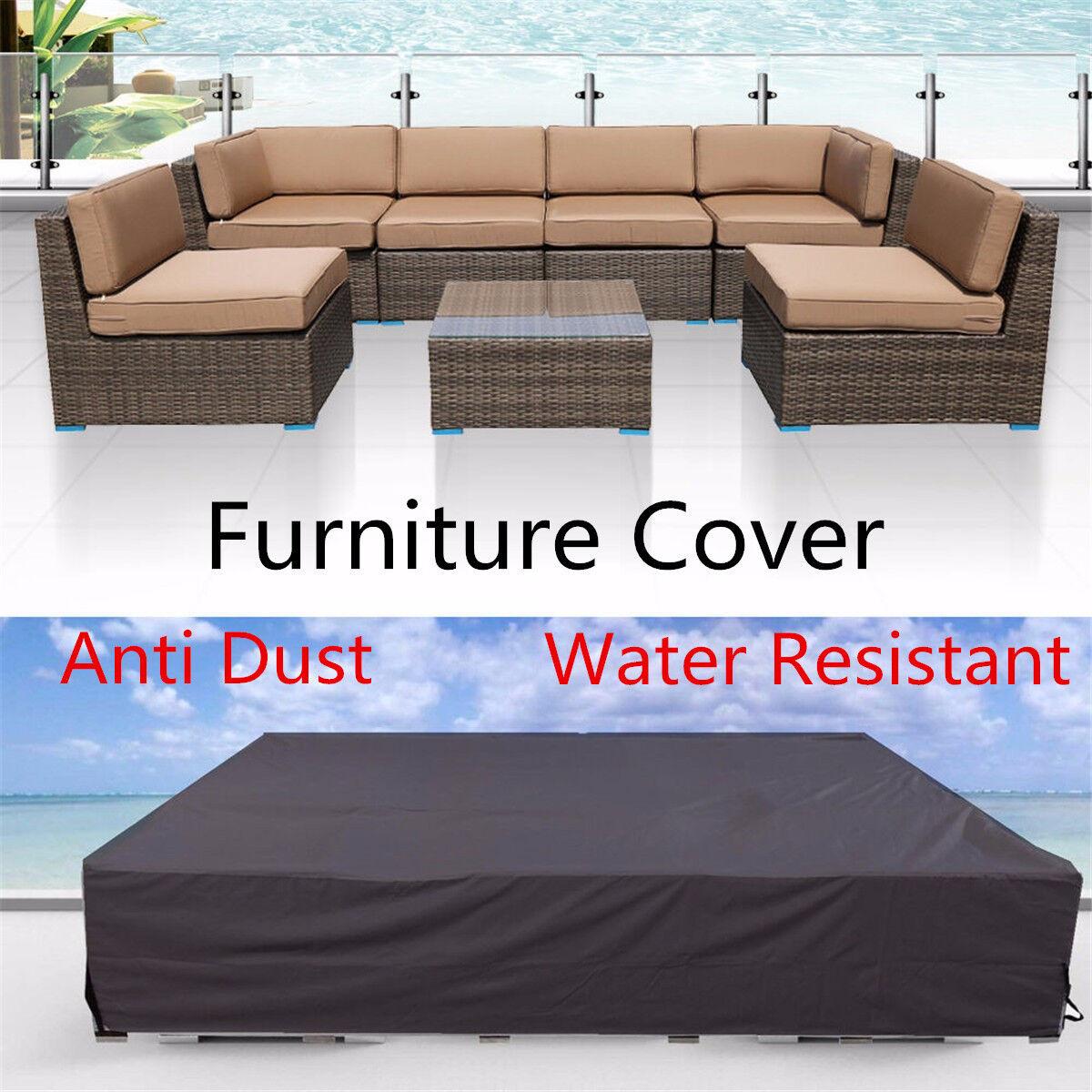 Waterproof Outdoor Furniture Patio Garden Wicker Chairs Tabl