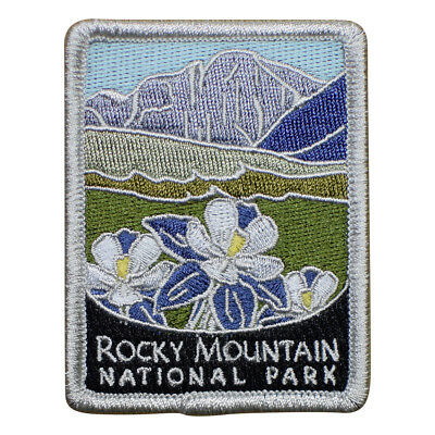 Rocky Mountain National Park Patch - Mountains and Flowers, Colorado (Iron on) ()