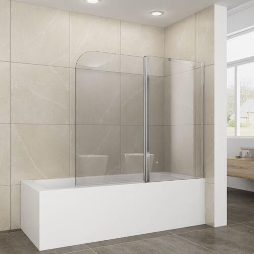Badewannenaufsatz 2-teilig Duschwand 180° schwenkbar Badewannenabtrennung 120cm