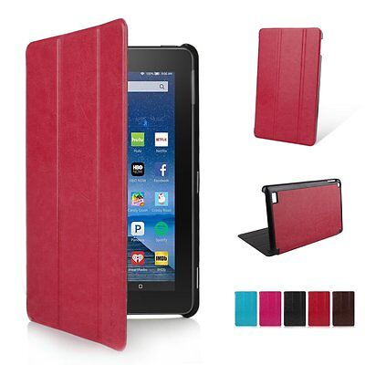 PU Leather Folio Case Cover Skin Stand for Amazon Kindle Fire HD 7 8 10 2015