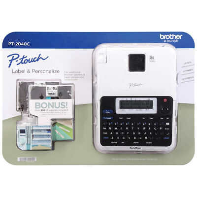 Brother P-touch 2040c Label Maker With Two Bonus Laminated Tze Tapes New