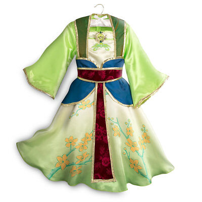 NWT Disney Store Mulan Costume Set Kimono 4, 5/6 Girl