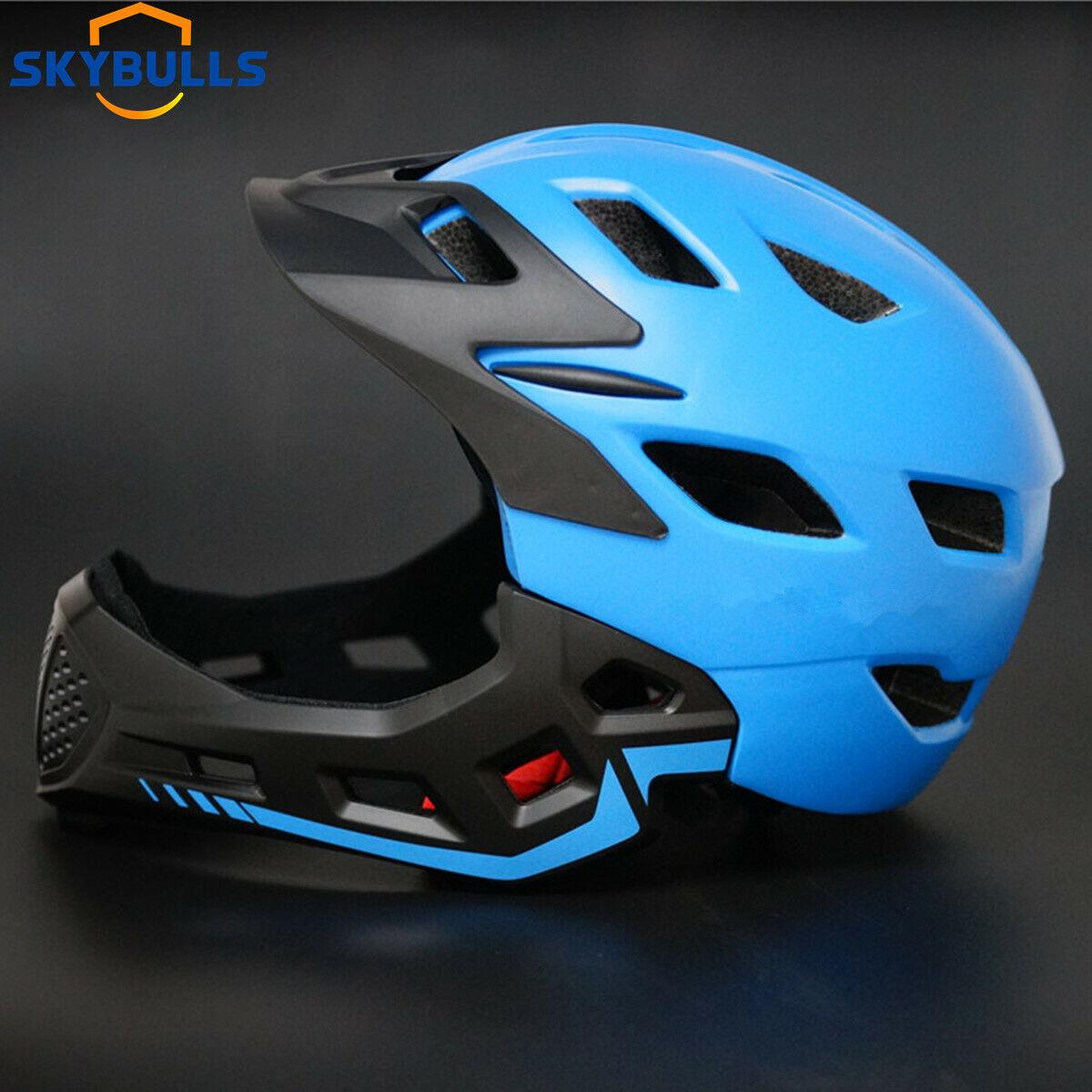 Children Full Face Bicycle Helmet Kids Downhill MTB BMX Crash Motorcycle Helmets