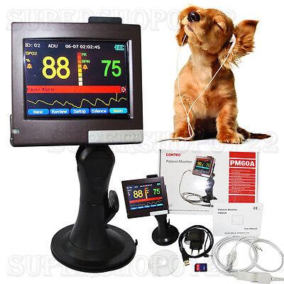 Veterinary Pulse Oximeterpatient Monitor Pm60avet Probespo2 Probeanimalvet