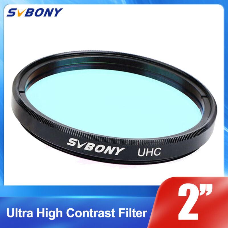 "SVBONY 2"" UHC Telescope Eyepiece Filters Ultra High Contrast Sky Light Pollution"
