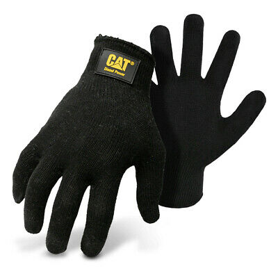 Cat Diesel Power String Knit Polycotton Size L Work Gloves