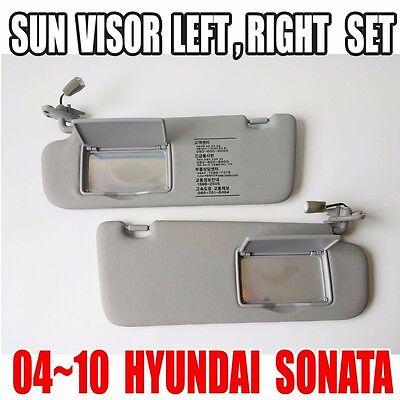 HYUNDAI 2006-2010 Sonata   Driver Left , Right  Inside Sun Visor Gray  2EA=1SET