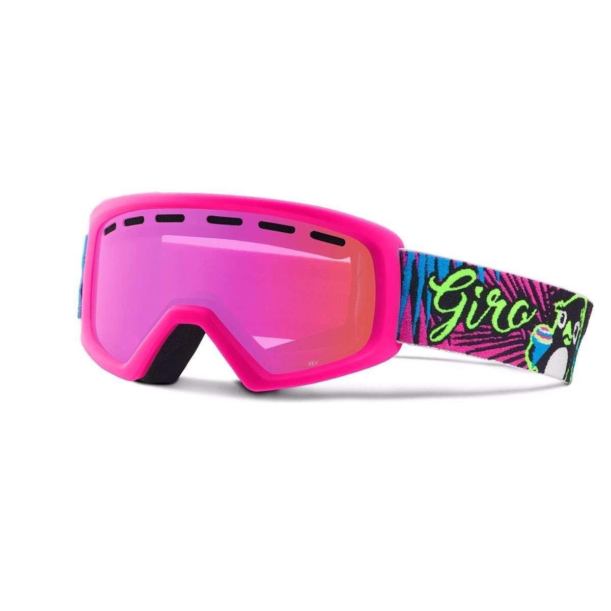 Giro REV Kinderskibrille 6-10 Jahre Penguin Pop/Amber Pink UVP €49,95