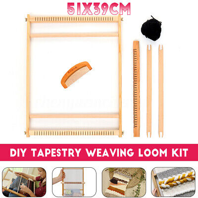 Wooden Loom - Weaving Loom Kit Looms Wooden Tapestry Hand-Knitted Machine DIY Craft Woven Set