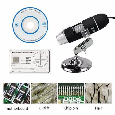1000x8 Led Usb 2.0 Digital Microscope Endoscope Zoom Camera Magnifierstand 2mp