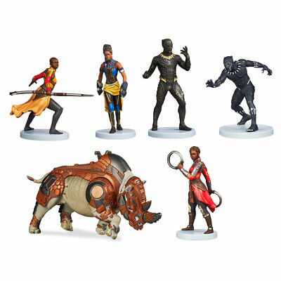 Disney Marvel Black Panther Avengers Figurine Set  6 Pc  2018   New   Ships Fast
