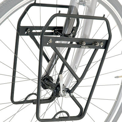 Axiom Journey DLX - Front Bike Pannier Lowrider Rack to fit Bicycle Forks