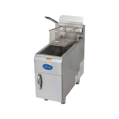 Globe Gf15pg Full Pot Countertop Gas Fryer