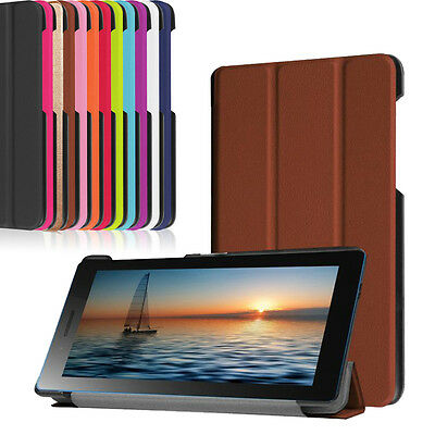 Folding Stand Leather Case Cover For Lenovo Tab 3 730 7-inch Tablet