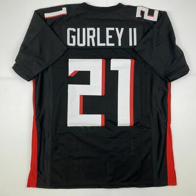 New TODD GURLEY II Atlanta 2020 Black Custom Stitched Football Jersey Men's XL image
